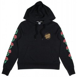 SWEAT SANTA CRUZ WMN HOODY ROSES - BLACK