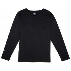 T-SHIRT SANTA CRUZ WMN L/S ROSES DOT - BLACK