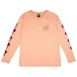 T-SHIRT SANTA CRUZ WMN L/S ROSES DOT - BLUSH
