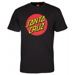 T-SHIRT SANTA CRUZ CLASSIC DOT - BLACK