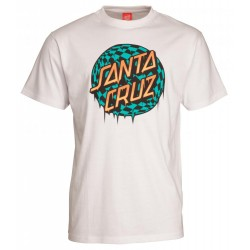 T-SHIRT SANTA CRUZ CHECK WASTE DOT - WHITE