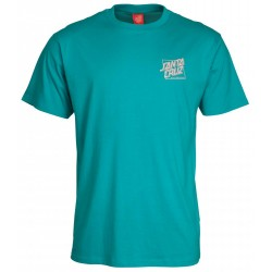 T-SHIRT SANTA CRUZ SQUARED - BLUE