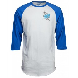 T-SHIRT SANTA CRUZ TATOO HAND BASEBALL - BLUE / ASPHALT
