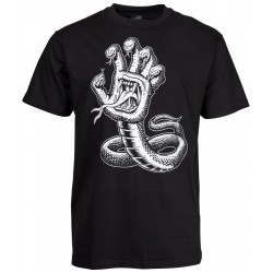 T-SHIRT SANTA CRUZ HISSING HAND - BLACK