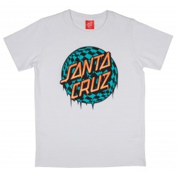 T-SHIRT SANTA CRUZ ENFANT CHECK WASTE DOT - WHITE