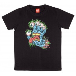 T-SHIRT SANTA CRUZ ENFANT GNAR HAND - BLACK