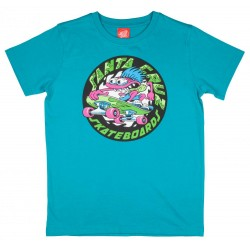 T-SHIRT SANTA CRUZ ENFANT GROMMET - LAKE BLUE