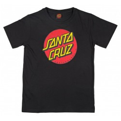 T-SHIRT SANTA CRUZ ENFANT CLASSIC DOT - BLACK