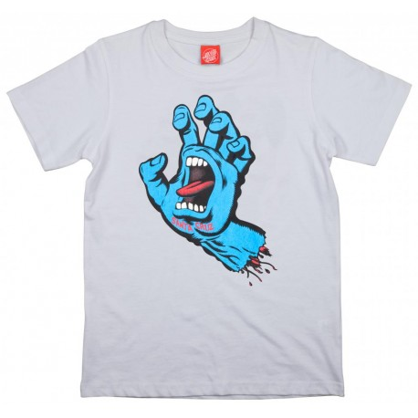 T-SHIRT SANTA CRUZ ENFANT SCREAMING HAND - WHITE