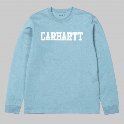 T-SHIRT CARHARTT WIP COLLEGE L/S - DUSTY BLUE HEATHER