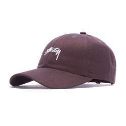 CASQUETTE STUSSY SUITING LOW PRO - WINE