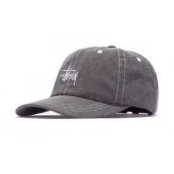 CASQUETTE STUSSY WASHED STOCK LOW PRO - BLACK