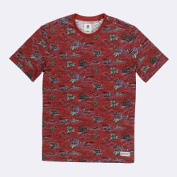 T-SHIRT ELEMENT BRICE - RED DAHLIA