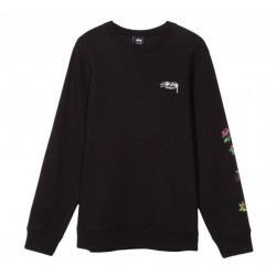SWEAT STUSSY ROSES CREW - BLACK