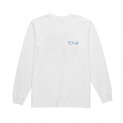 T-SHIRT POLAR LONGSLEEVE ORCHID FILL LOGO - WHITE