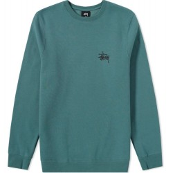 SWEAT STUSSY BASIC CREW - SAGE