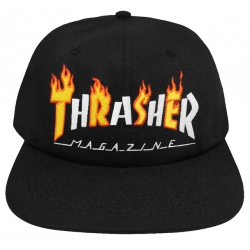 CASQUETTE THRASHER FLAME MAG BLACK