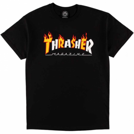 T-SHIRT THRASHER FLAME MAG BLACK