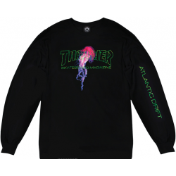 T-SHIRT THRASHER ATLANTIC DRIFT MANCHES LONGUES BLACK