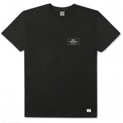 T-SHIRT HUF 420 SMOKERS LOUNGE STRAINS - BLACK