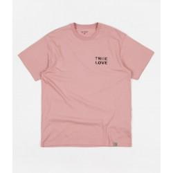 T-SHIRT CARHARTT WIP TRUE LOVE - SOFT ROSE BLACK