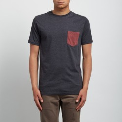 T-SHIRT VOLCOM POCKET - HEATHER BLACK