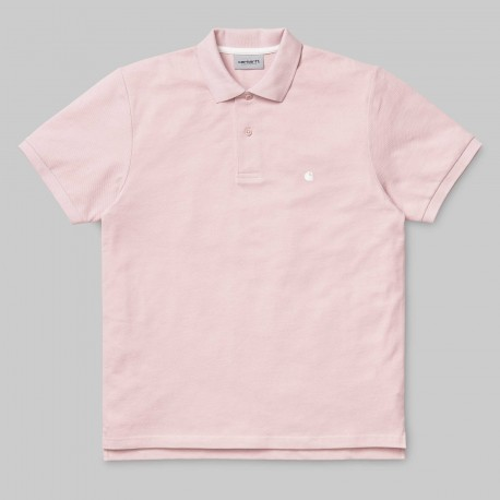 POLO CARHARTT WIP C-LOGO -SOFT ROSE / WAX