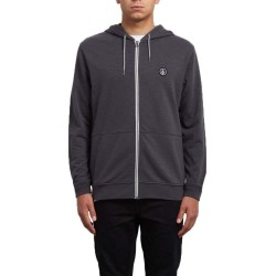 SWEAT VOLCOM LITEWARP HOOD ZIP - HEATHER BLACK