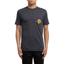 T-SHIRT VOLCOM RIP POCKET SS - HEATHER BLACK