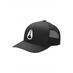 CASQUETTE NIXON ICONED TRUCKER - BLACK WHITE