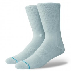 CHAUSSETTES STANCE UNCOMMON SOLIDS ICON - PASTEL BLUE