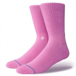 CHAUSSETTES STANCE UNCOMMON SOLIDS ICON - SATURED PINK