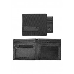 PORTEFEUILLE NIXON SHOWTIME BI-FOLD ZIP - ALL BLACK NYLON