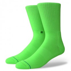 CHAUSSETTES STANCE ANTHEM ICON - FLUORESCENT GREEN