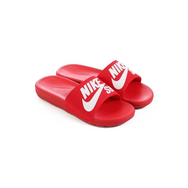 the best attitude 60328 ea3ee Claquette Nike Sb Benassi Solarsoft Red
