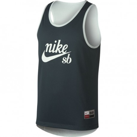 DEBARDEUR NIKE SB DRY TANK MESH REVERS BARELY GREY DEEP JUNGLE LASER ORANGE
