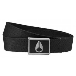 CEINTURE NIXON ENAMEL WINGS - BLACK