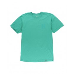 T-SHIRT HUF OVER-DYE CLASSIC H SS - BRIGHT AQUA