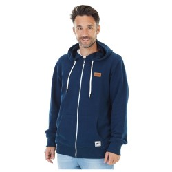 SWEAT PICTURE ORGANIC TOAD HOOD ZIP - DARK BLUE