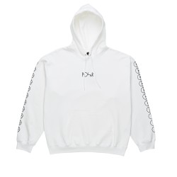 SWEAT POLAR HOOD RACING WHITE