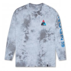 T-SHIRT HUF WC TAKEOVER TT C-WASH LS - WHITE
