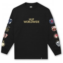 T-SHIRT HUF WC CLUB CREST LS BLACK