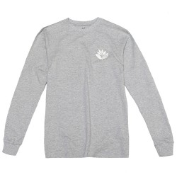T-SHIRT MAGENTA CLASSIC LS - HEATHER GREY