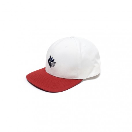 CASQUETTE MAGENTA SNAPBACK - WHITE / RED