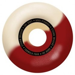 ROUES SPITFIRE FORMULA FOUR 101D LOCK INS RED SWIRL - 55MM