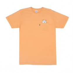 T-SHIRT RIPNDIP LORD NERMAL POCKET TEE - OVER DYED ORANGE