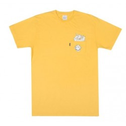 T-SHIRT RIPNDIP STUFFED TEE - GOLD