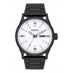 MONTRE NIXON SENTRY SS - BLACK WHITE