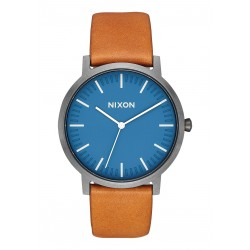 MONTRE NIXON PORTER LEATHER - NAVY / GUNMETAL