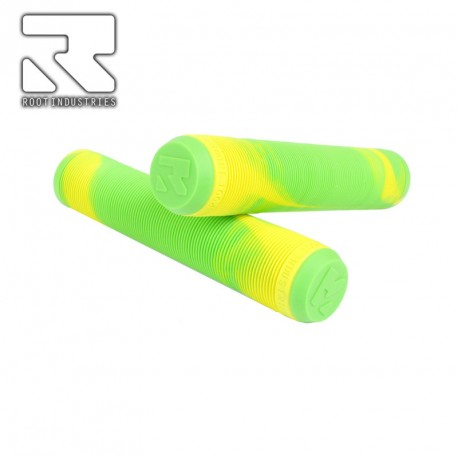 POIGNEE ROOT INDUSTRIES AIR GRIPS MIXED GREEN YELLOW